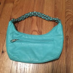turquoise genuine leather chain strap wilson's bag